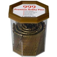 Hair Accessories - Bobby Pins 999 2 Inch Bronze