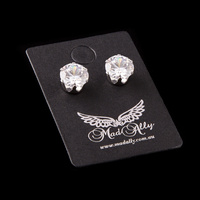 Mad Ally Diamante Earrings 8mm