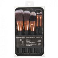 Rose Gold Makeup Brushes in Keepsake Tin by BYS