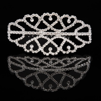 Mad Ally Medium Double Tiara Silver