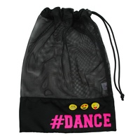 #Dance Black Mesh Emoji Shoe Bag