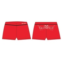 Mad Ally Dancer Shorts Red