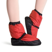 Bloch Red & Black Warm Up Bootie Adult