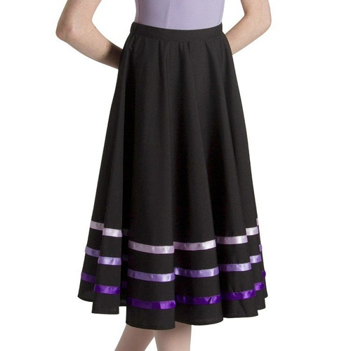 Bloch Purple Ribbon Character Skirt Womens [Size: Small]