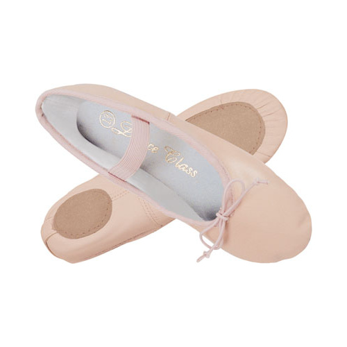 Pink Leather Ballet Shoes Split Sole [Size:Adult 5]