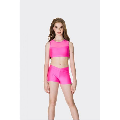 Studio 7 Mesh Crop Top Child [Size:XS][Colour:Black]