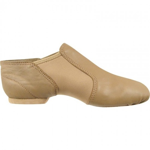 Jazz Shoes Tan Leather Spandex Gore Adult [Size:Adult 5]