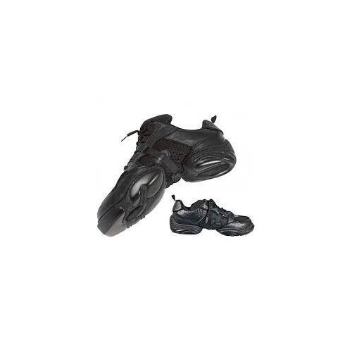 Sneaker Leather Mesh Speed Lace Black [Size:Child 12]