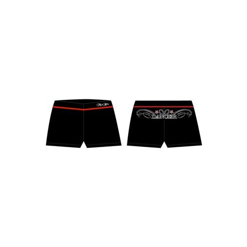 Mad Ally Dance Shorts Black/Red [Size:Ch 4]