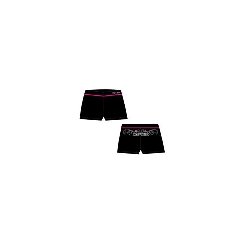 Mad Ally Dance Shorts Black/Pink [Size: Ch 4]