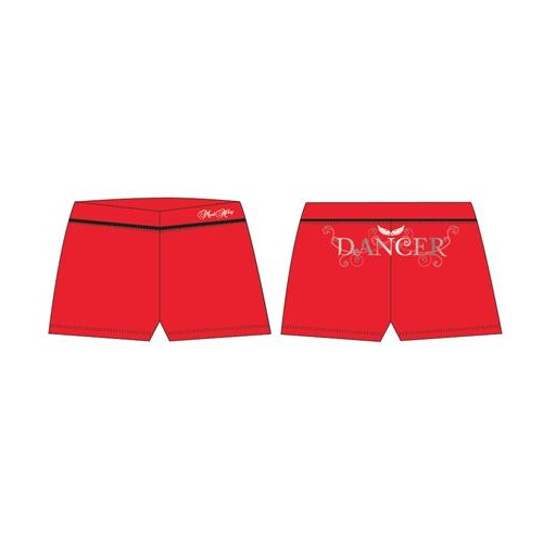 Mad Ally Dancer Shorts Red [Size: Ch 6]