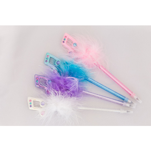Music Note Fluffy Pens [Colour: Pink]
