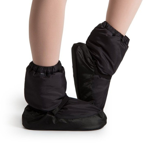 Bloch Black Warm Up Bootie Child [Size: Small]
