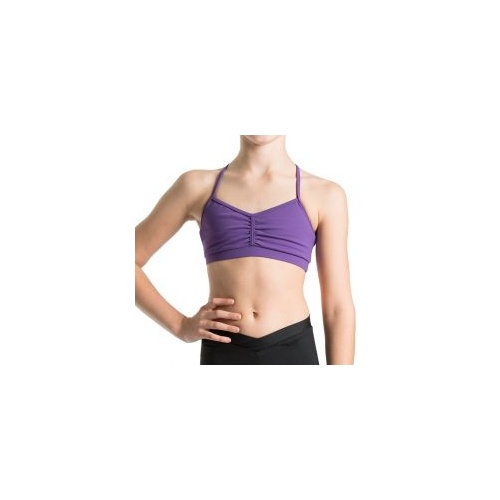 Bloch Bunga Gathered Racer Girls Crop Top Child [Size:S][Colour:Black]