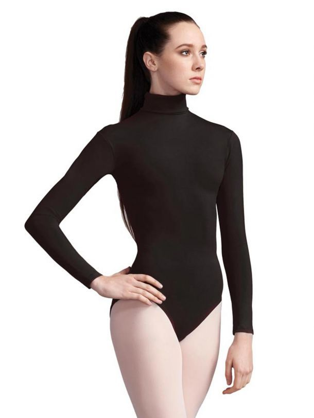e04e490151248 Capezio Turtleneck Long Sleeve Leotard Adult [Colour: Black] [Size: Adult  Large]