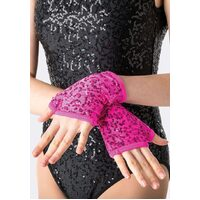 Studio 7 Sequin Fingerless Gloves Child