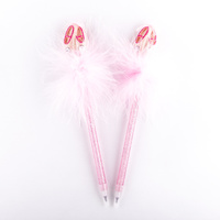 Ballet Shoes Fluffy Pens