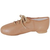 Jazz Shoes Lace Up Tan Adult
