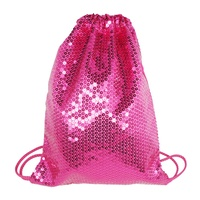 Pinky Poppy Vivid Drawstring Shoe Bag- Hot Pink