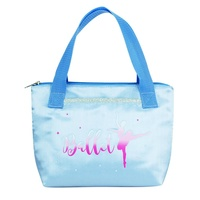 Pink Poppy Tutu Cute Tote Bag- Blue