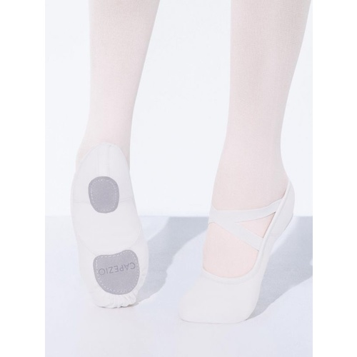 Capezio Hanami Ballet Shoes Canvas Child [Colour: White] [Size: Child 1] [Fit: Medium]