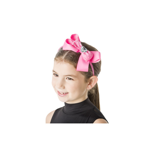 Studio 7 Big Bow Headband Hot Pink