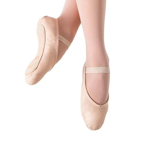 Bloch Prolite Leather Full Sole Ballet Flat Child 12; Width B; Pink
