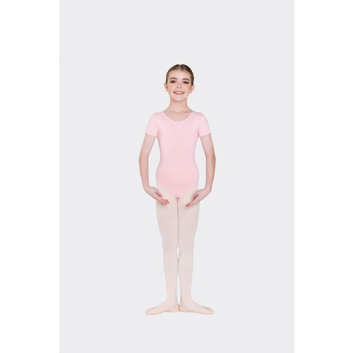 Studio 7 Premium Short Sleeve Leotard Child [Colour: Ballet Pink] [Size: X- Small]